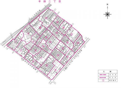 大阪府貝塚市2015年11月30日住居表示住所変更区域図他2