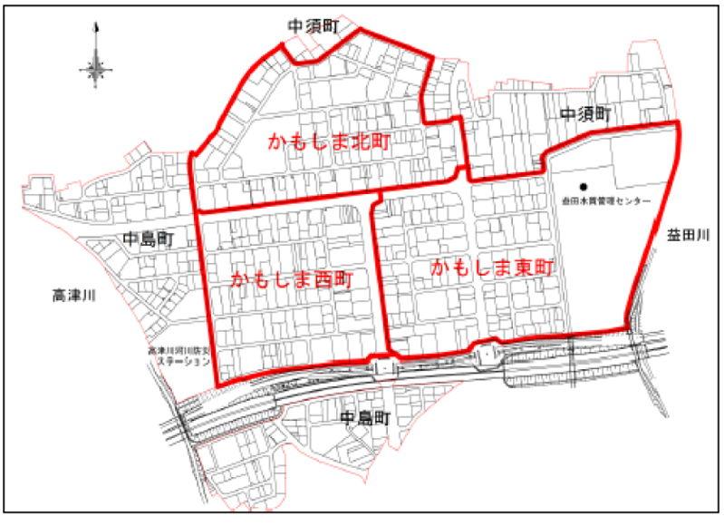 島根県益田市2016年1月9日区画整理事業住所変更区域図他1