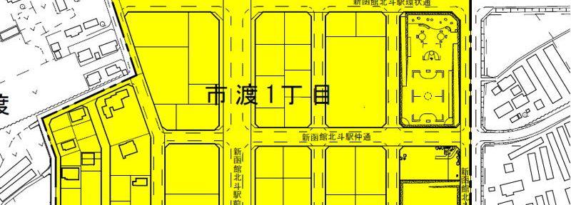 北海道北斗市2016年2月6日住居表示住所変更区域図他1