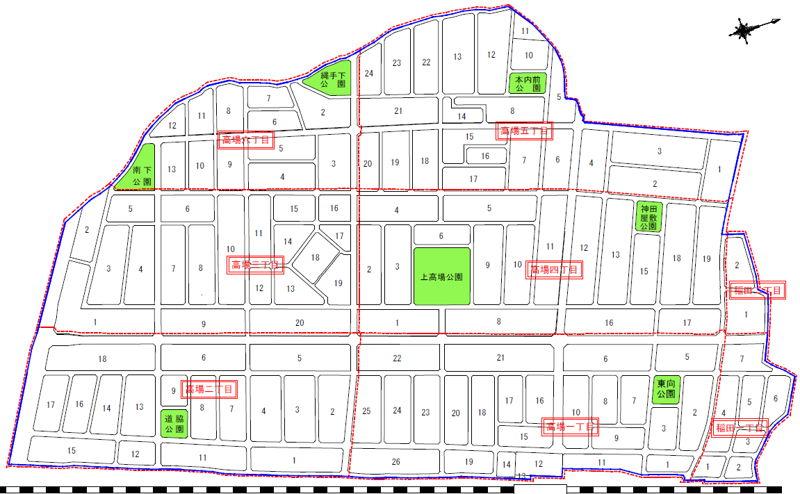 茨城県ひたちなか市2016年1月29日区画整理事業住所変更区域図他1