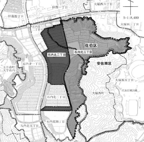 広島県広島市佐伯区2016年1月18日住居表示住所変更区域図他1