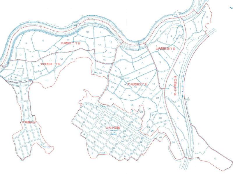 山口県山口市2016年2月20日住居表示住所変更区域図他1