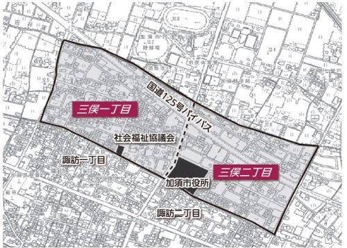 埼玉県加須市2016年3月19日区画整理事業住所変更区域図他1