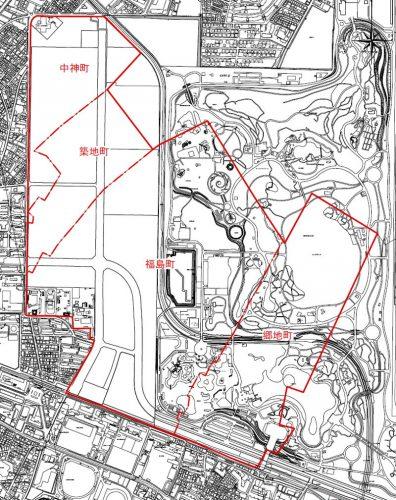東京都昭島市2016年4月1日住居表示住所変更区域図他1