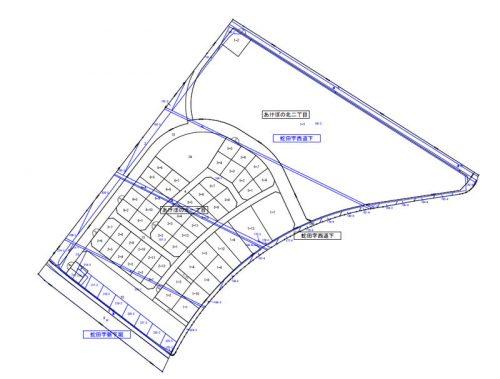 宮城県石巻市2016年5月21日区画整理事業住所変更区域図他1