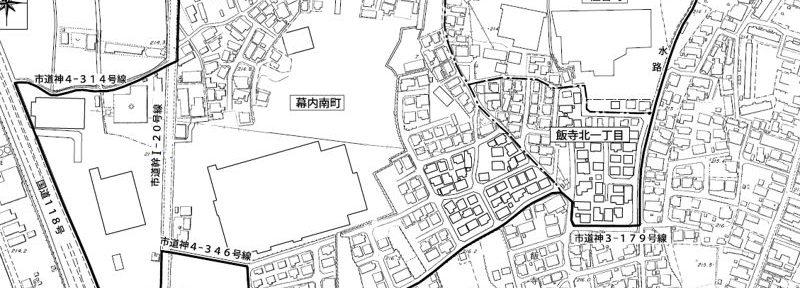 福島県会津若松市2016年8月8日住居表示住所変更区域図他1