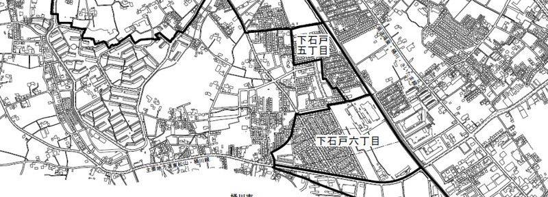 埼玉県北本市2016年8月1日町名地番変更住所変更区域図他1