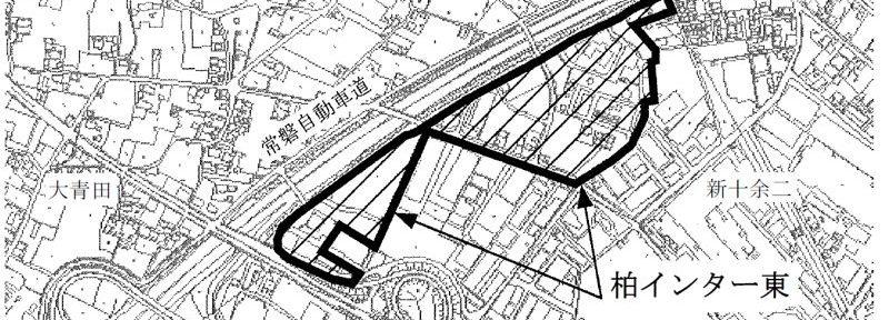 千葉県柏市2016年5月14日区画整理事業住所変更区域図他1