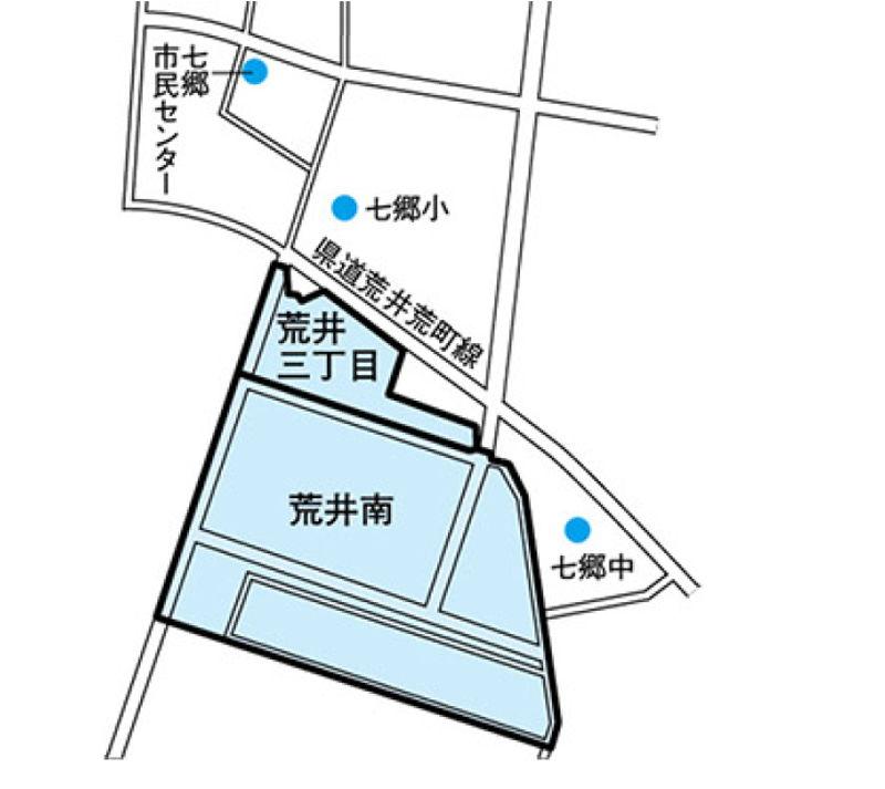 宮城県仙台市若林区2016年8月20日区画整理事業住所変更区域図他1