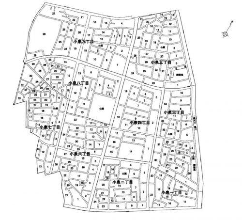 埼玉県上尾市2016年9月17日区画整理事業住所変更区域図他1