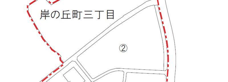 大阪府岸和田市2016年8月1日住居表示住所変更区域図他1