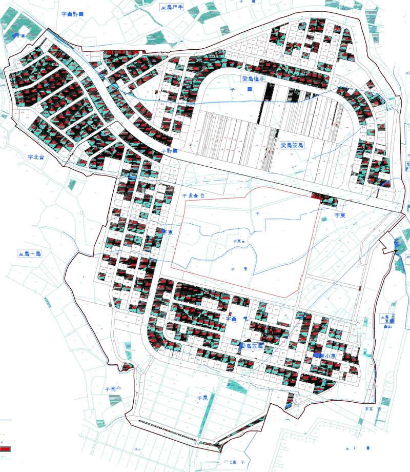 宮城県名取市2016年11月5日区画整理事業住所変更区域図他1