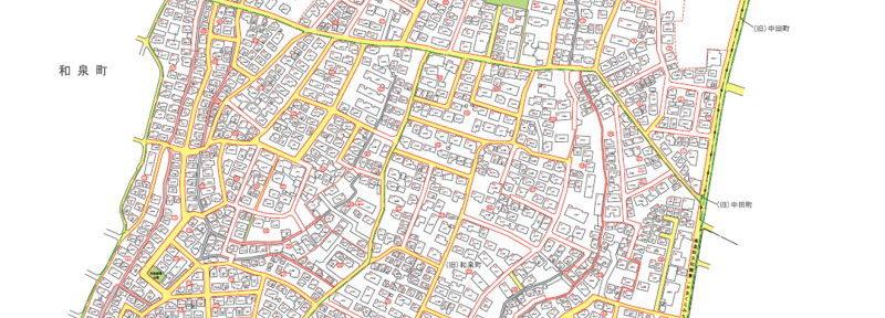 神奈川県横浜市泉区2016年10月17日住居表示住所変更区域図他1