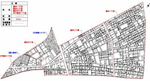 埼玉県加須市2016年12月17日区画整理事業住所変更区域図他1
