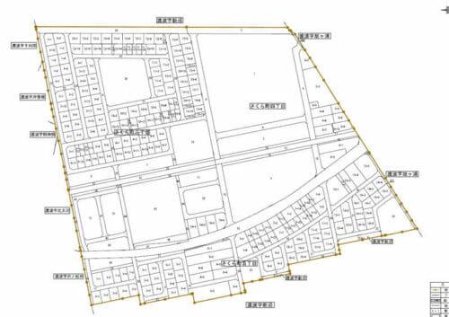 宮城県石巻市2017年1月20日区画整理事業住所変更区域図他2