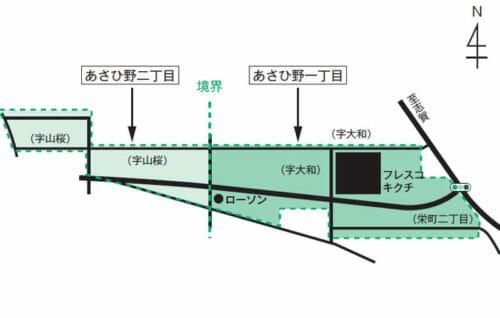 宮城県岩沼市2017年1月28日区画整理事業住所変更区域図他1