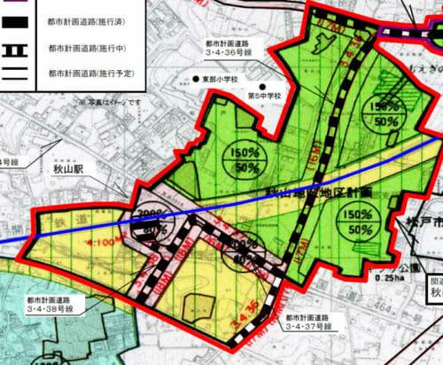 千葉県松戸市2017年2月1日区画整理事業住所変更区域図他1