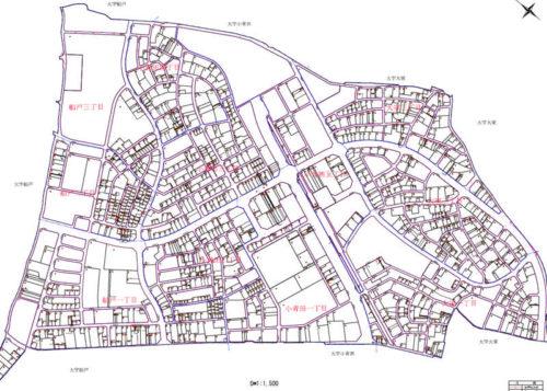 千葉県柏市2017年7月1日区画整理事業住所変更区域図他1