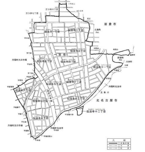 愛知県一宮市2017年5月27日区画整理事業住所変更区域図他1