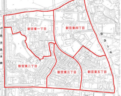 福岡県糟屋郡新宮町2017年7月15日住居表示住所変更区域図他