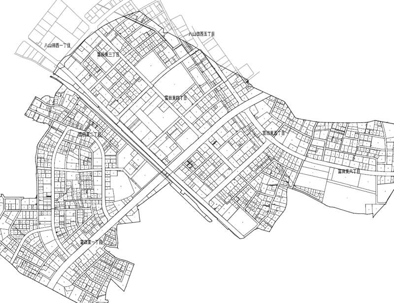 福島県郡山市2017年8月19日区画整理事業住所変更区域図他1