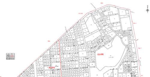 福島県須賀川市2017年8月19日区画整理事業住所変更区域図他1