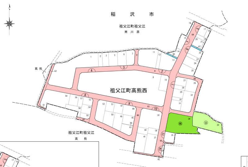 愛知県稲沢市2017年8月5日区画整理事業住所変更区域図他1