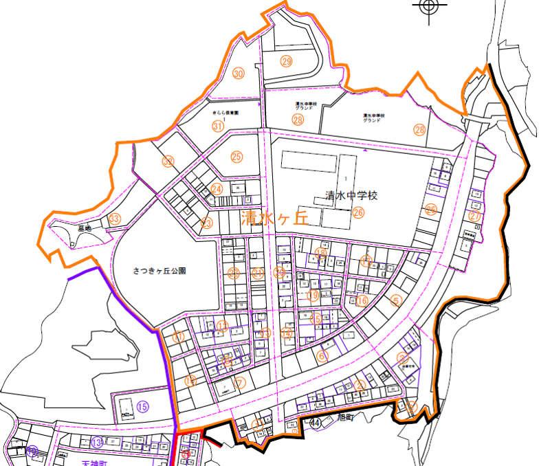 高知県土佐清水市2017年8月1日住居表示住所変更区域図他1