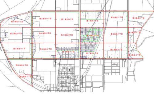 北海道白糠郡白糠町2017年9月23日字名改正事業による住所変更区域図他4