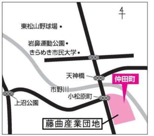埼玉県東松山市2017年8月30日区画整理事業住所変更区域図他1