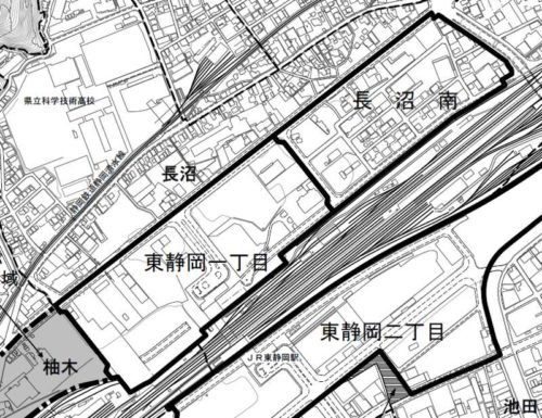 静岡県静岡市葵区2017年10月7日住居表示住所変更区域図他1