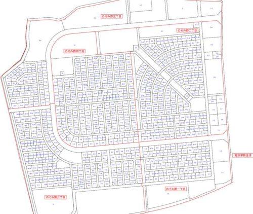 宮城県石巻市2017年11月3日区画整理事業住所変更区域図他1