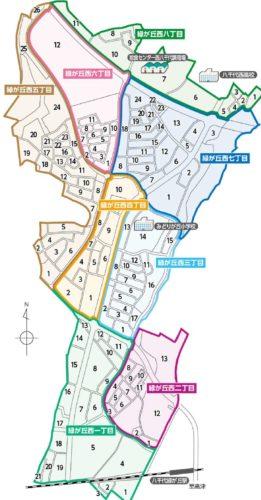 千葉県八千代市2017年11月18日区画整理事業住所変更区域図他1
