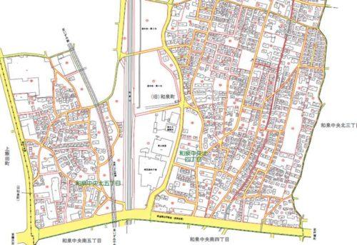 神奈川県横浜市泉区2017年10月23日住居表示住所変更区域図他1