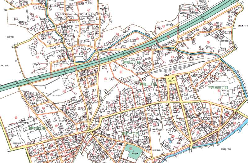 山梨県富士吉田市2017年11月8日住居表示住所変更区域図アイキャッチ