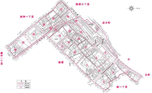 大阪府貝塚市2017年11月13日住居表示住所変更区域図他1