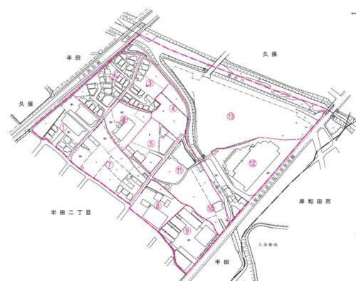 大阪府貝塚市2017年11月13日住居表示住所変更区域図他2