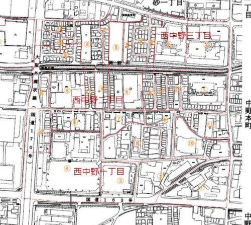 大阪府四條畷市2017年11月13日住居表示住所変更区域図他1