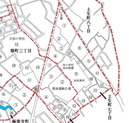 大阪府岸和田市2017年12月11日住居表示住所変更区域図他1