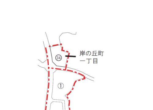 大阪府岸和田市2018年2月15日住居表示住所変更区域図他1