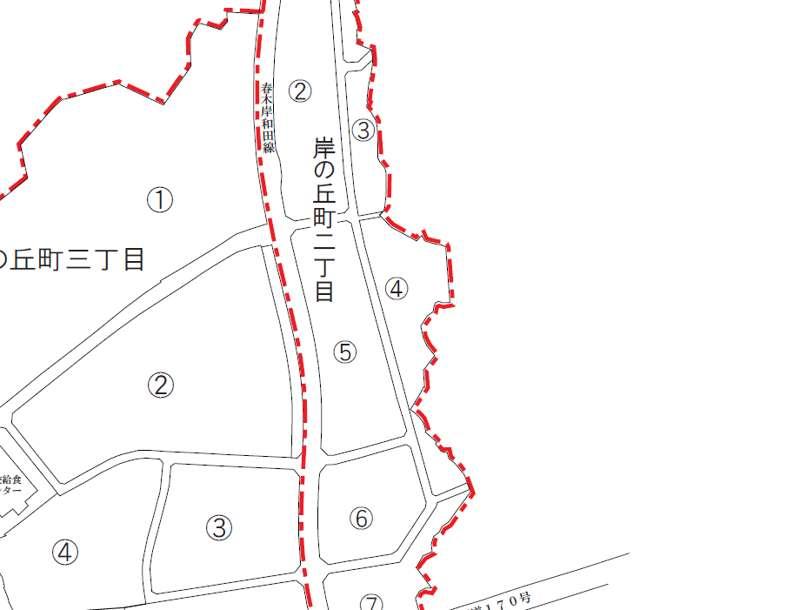 大阪府岸和田市2018年3月8日住居表示住所変更区域図他1