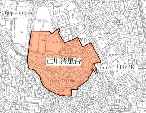 兵庫県宝塚市2017年12月1日住居表示住所変更区域図他1