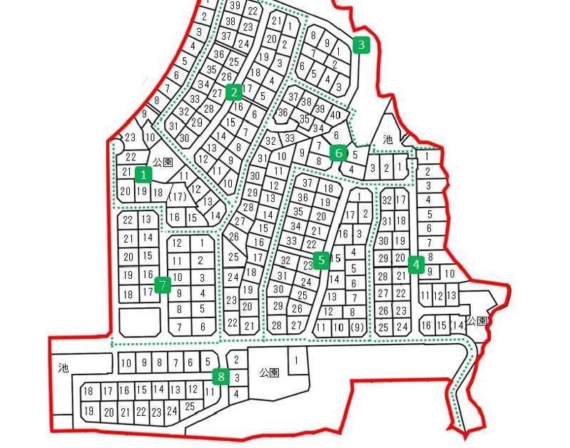 奈良県生駒市2018年1月1日住居表示住所変更区域図他1