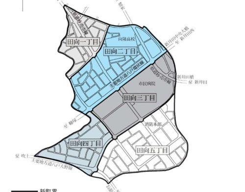 青森県八戸市2018年2月10日住居表示住所変更区域図他1