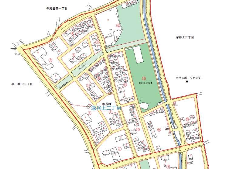 神奈川県綾瀬市2018年2月13日住居表示住所変更区域図他1