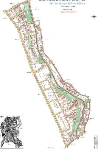 神奈川県綾瀬市2018年2月13日住居表示住所変更区域全図