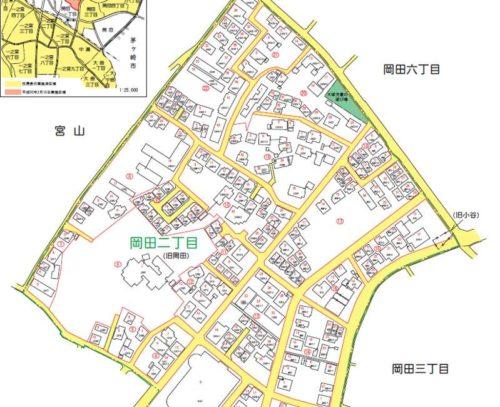 神奈川県高座郡寒川町2018年3月10日住居表示住所変更区域図他1