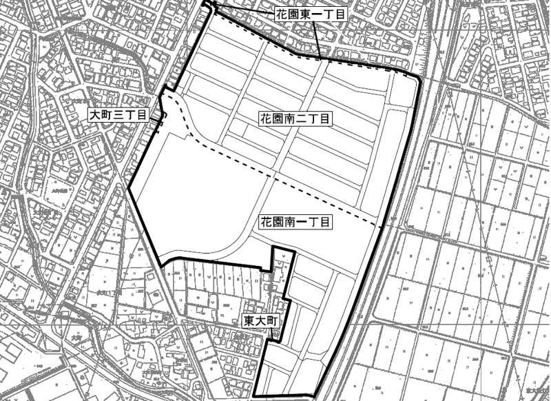 新潟県長岡市2018年2月24日区画整理事業住所変更区域図他1