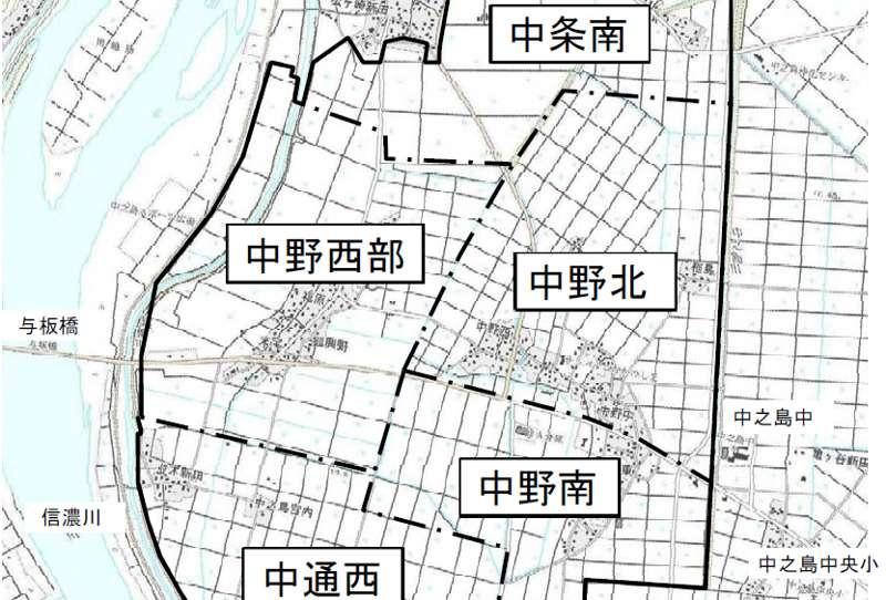 新潟県長岡市2018年3月20日県営ほ場整備事業住所変更区域図他1
