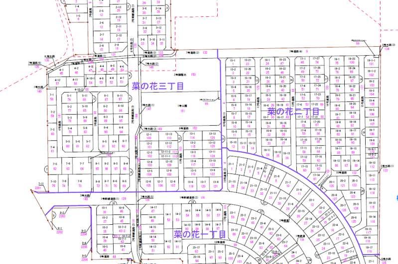 石川県白山市2018年1月20日区画整理事業住所変更区域図他1